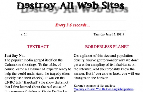 Destroy All Websites Header