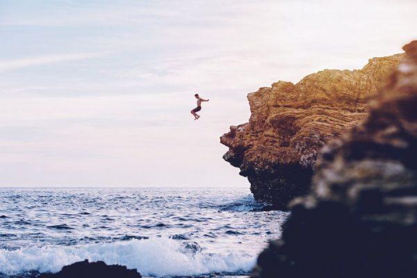 coinbase IPO crypto crash - cliff jump