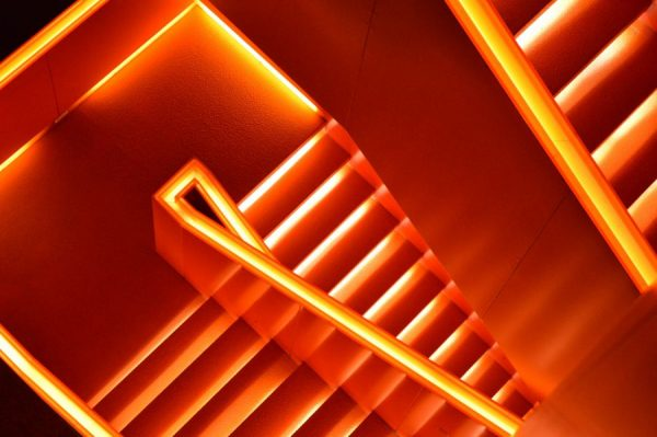 know why you trade invest - orange stairs