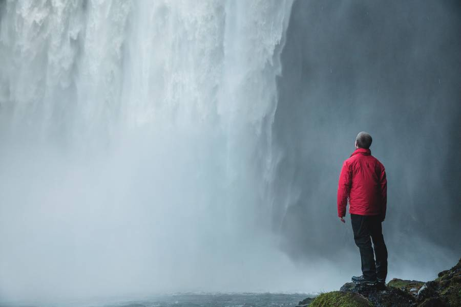 lack of experience in business man waterfall