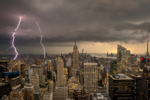New York City Lightening Storm